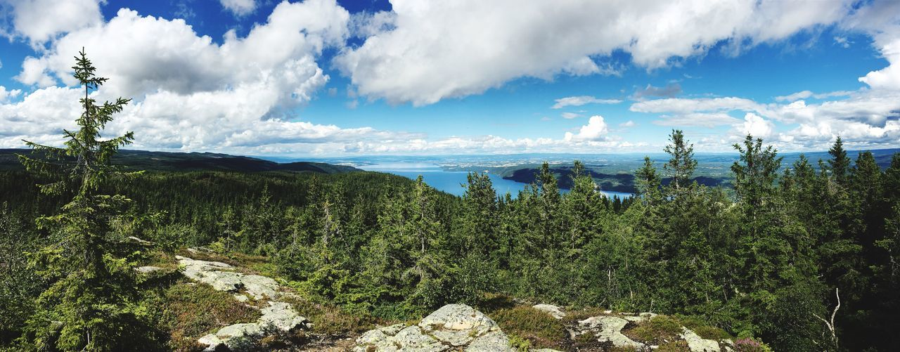 What a view! Water Cloud - Sky Beauty In Nature Mountain Skreikampen Eidsvoll Hike Beauty In Nature Nature Photography Panorama Panoramic Photography Norway Nature Norway