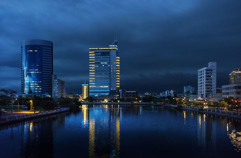 Blue Hour Architecture ASIA Blue Hour Blue Sky Building Exterior Built Structure City Cityscape Illuminated Modern Night No People Outdoors Reflection River Sky Skyscraper Travel Destinations Urban Skyline Water Waterfront