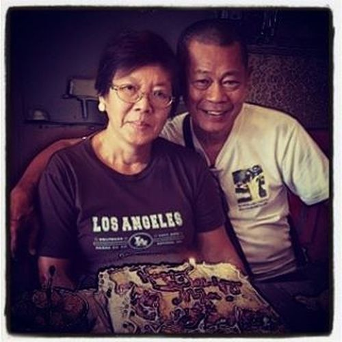 Happy 42nd anniversary Mama and Papa! Eight more years to go 'til your golden years of love and togetherness. You are one living proof of forever that I have witnessed. May God bless you with more happy years. I love you so much. 😘❤👪 ALoveToLastForever Happiness Love Thankful Blessed