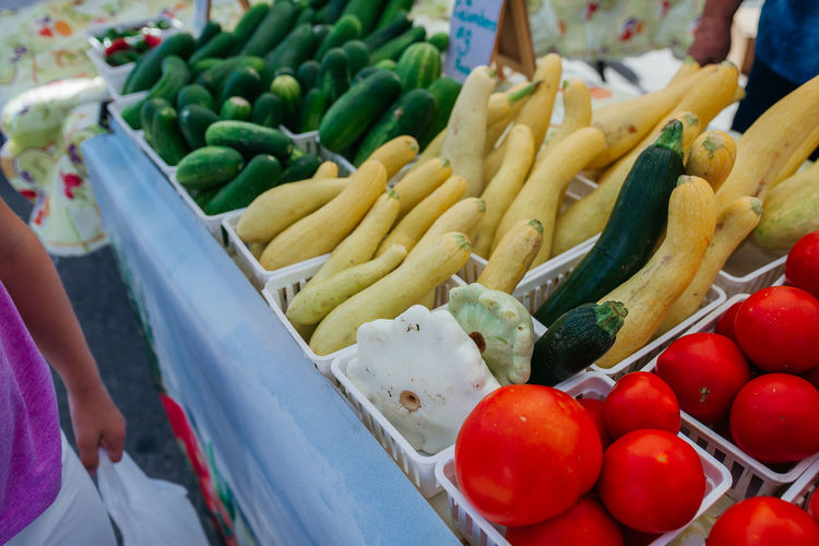Farmers Market in Round Rock, TX Farmers Market Choice Close-up Day Food Food And Drink For Sale Freshness High Angle View Human Body Part Human Hand Market Market Stall One Person Outdoors People Real People Retail  Variation Vegetable