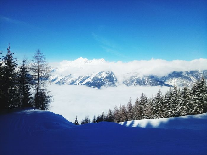 Landscape Austria Tirol  Clouds Clouds And Sky Tree Mountain Snow Cold Temperature Winter Blue Forest Snowcapped Mountain Pine Tree Pinaceae Countryside