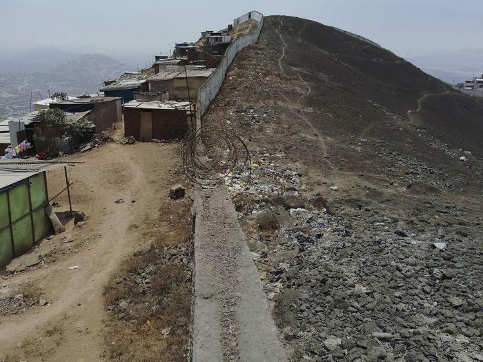 Tilt image of mountain against sky