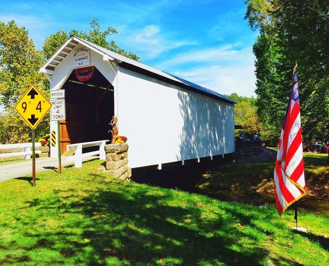 white covered bridge festival. //sept.2015// Check This Out Showcase: March Old Bridge Trees And Sky Green Grass Covered Bridge White Covered Bridge Country Landscapes Country Road CoveredBridge Festival Fall Festival IPhoneography Greene County, PA