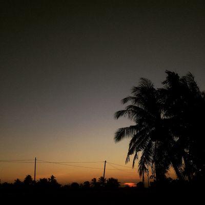 Sunset Sillhouette Kampung Malaysia