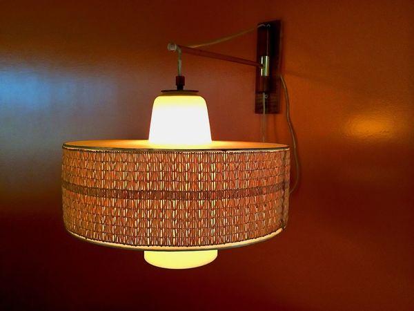 Lighting Equipment Illuminated Electric Lamp No People Hanging Indoors  Lamp Shade  Single Object Electricity  Light Bulb Vintage Orange 70ties