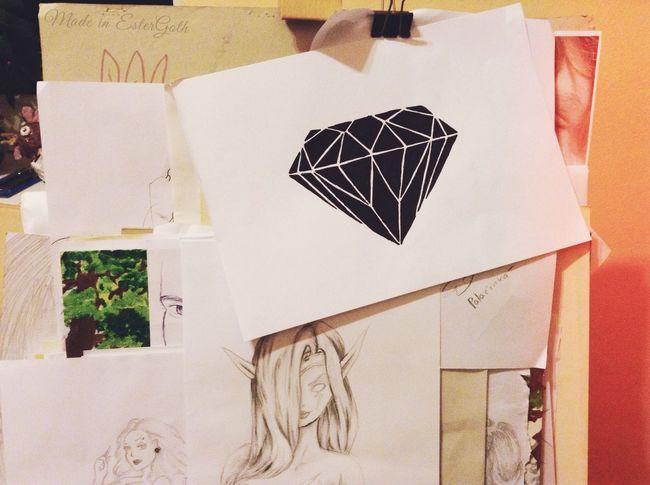 Just a easy diamond ???? Art Draw Drawing Diamond MY WORK