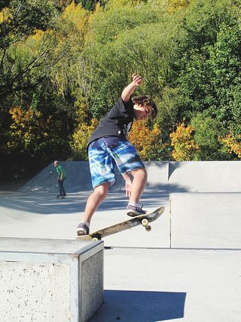 Once i have been to Arrowtown New Zealand and i saw a group of young Skateboarders ,, i did not know who he is but he could show his skill of Skateboarding amazingly