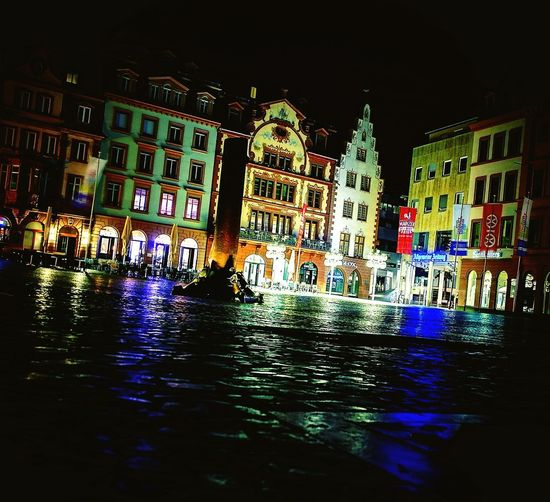 Illuminated No People Architecture Building Exterior Mainz City Lights Outdoors Nights In The City / Nachts In Der Stadt Mainzlover Cityscape Huawei P10