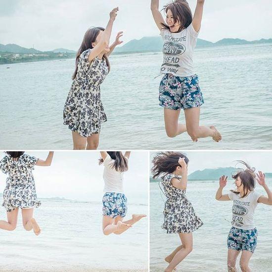 さえ☆ふゆ☆石垣島 散歩 カメラ Camera Vscocam X100S Ig_life Instafit Photos 写真好きな人と繋がりたい StillLife Art Fujifilm_xseries Fujifilm Photooftheday 石垣島 沖縄 Portrait Girl Model モデル Beach Jump