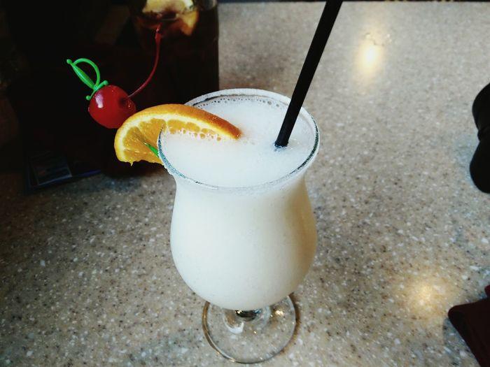 Pina Colada Mexico Piña Colada Lemon Orange Straw