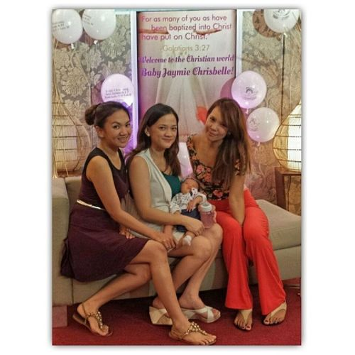Welcome to the Christian world, Baby Jaymie!! Bff Bestfriends Reunited😄🍰🎉👼💕