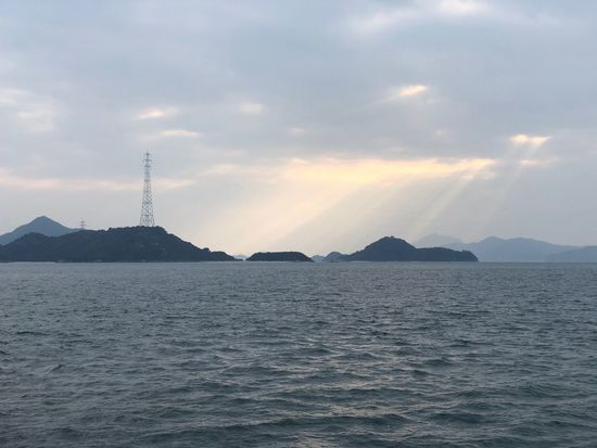 Crepuscular Rays Rabbitisland Setonaikai Hiroshima Japan Tranquility Beauty In Nature Nature Water No People Sea Sky Tranquil Scene Scenics Waterfront Mountain Outdoors Day