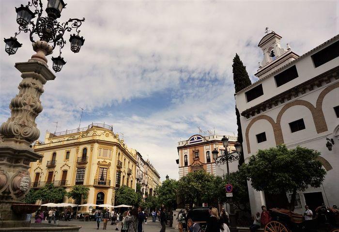 Fairytale Adapted To The City Architecture Building Exterior City City Life Cloud - Sky Day Façade Outdoors People Rickshaw Sky Spainish Travel Destinations Travel Photography Tree