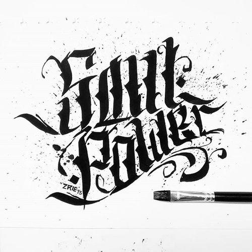 Soul Power Brush Ink Kaligrafina Calligraphy Belmenid Handmadefont Handtype Handlettering Typography Lettering Rocknroll