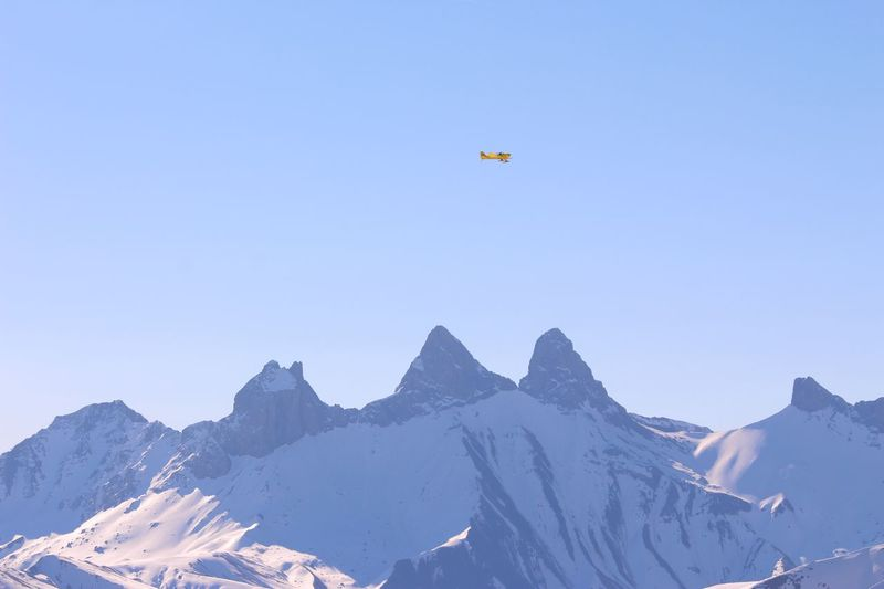 Les Aiguilles D'arves Mountain Snow Nature Flying Outdoors Airplane Sky France 🇫🇷 France Alps Alps France Landscape Clear Sky Aiguilles D'arves