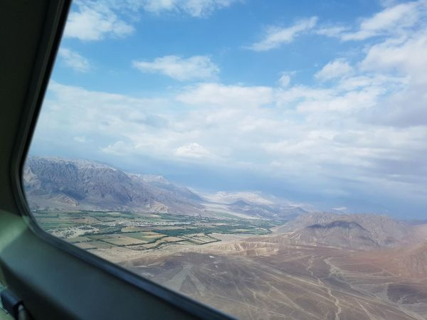 Nasca Nasca Lines High Angle View Airplaneview Airplane View Peru Historical Site Archeology Mountain Airplane Air Vehicle Window Windshield Looking Through Window
