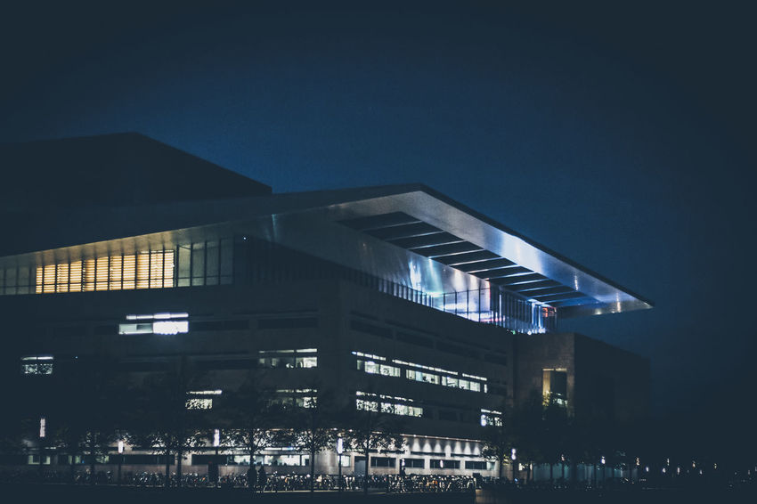 Architecture Building Exterior Built Structure Illuminated Low Angle View Night No People Opera House Outdoors Sky