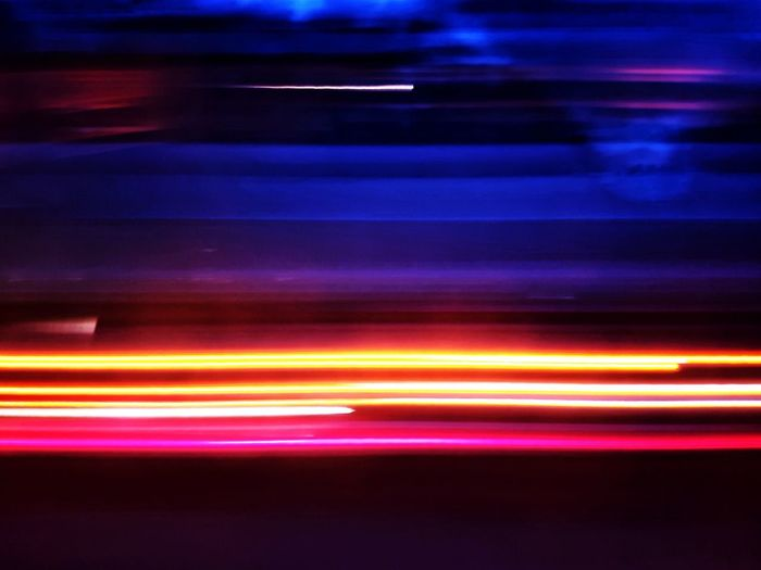 On The Road Lightpainting Light Painting Motion Speed Illuminated Blurred Motion Long Exposure Abstract Light Trail Multi Colored Night Striped Neon Technology