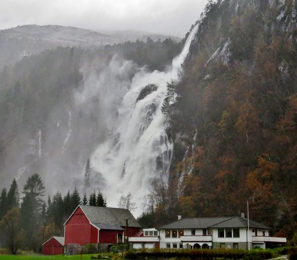Architecture Beauty In Nature Building Exterior Built Structure Close Up Nature Day Fall Beauty Favorite Places House Kvernhusfoss Landscape_Collection Modalen Mountain Nature Nature Norway Outdoors Roadtrip Roar Scenics Sky Tree TripAdvisor Waterfalls Westernnorway
