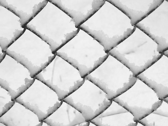 snowy pattern Backgrounds Bend Bent Chainlink Fence Chair Diamond Pattern Diamonds Equality Feburary Fence Gate Geometric Metal Pattern Patterns & Textures Same  Shape Snow Snow Covered Washington State White White Background Winter Shades Of Winter