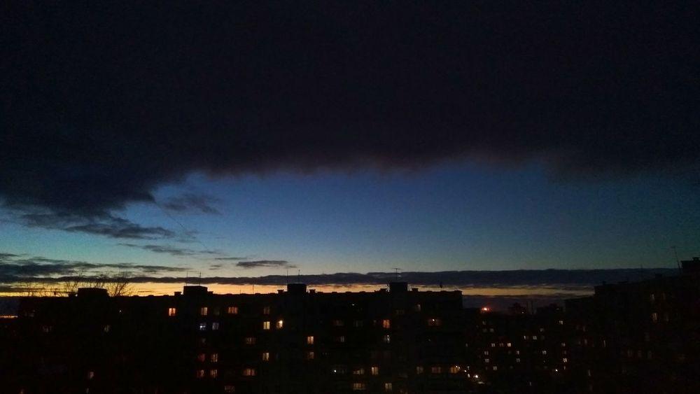 Sky No People Nature City Night Russia Dark Sky Dark Night Dark Sunlight ☀