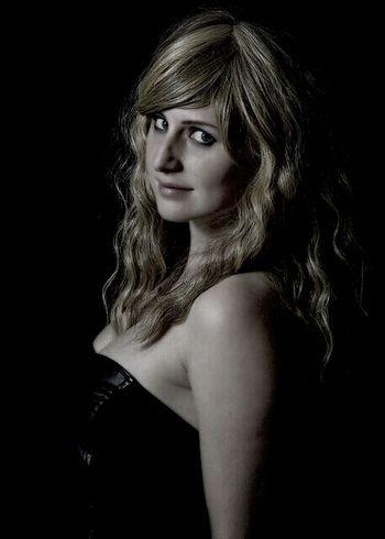 Black & White Photoshoot Blonde Girl Portrait