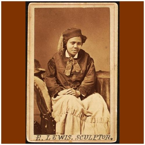 """""""It was hard work, though, but with color and sex against me I have achieved success. That is what I tell my people, whenever I meet them, that they must not be discouraged but work ahead until the world is bound to respect them for what they have accomplished."""" -- Edmonia Lewis, sculptor (1844-1907) EdmoniaLewis Sculptor WomensHistory WomensHistoryMonth Herstory Perseverance"""