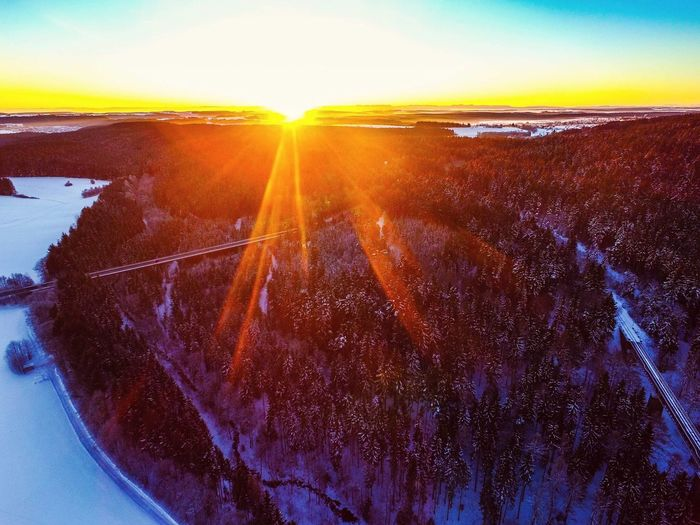 Black Forest Sunrise First Eyeem Photo Blackforest Schwarzwald Sunrise Drone  Dronephotography Color Colorful Colors Colour Of Life View From Above Winter Wintertime Winter Trees Winterwonderland Winterscapes Dji Phantom Sky Sky And Clouds Sky_collection Miles Away EyeEmNewHere EyeEmNewHere