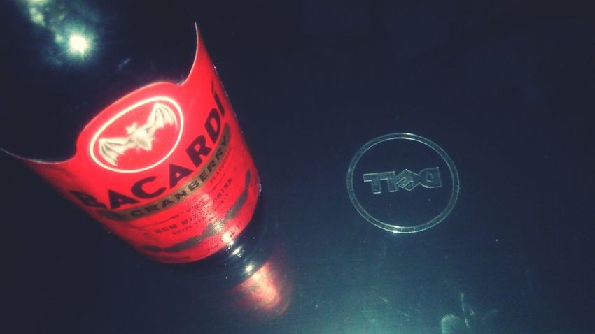 Bacardi on dell laptop Bacardi  Beer Cranberry Dell Laptop
