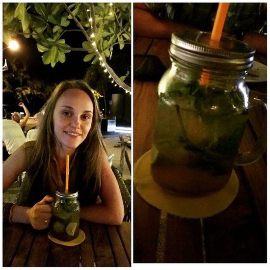 Первый раз пью мохито из банко-кружкиМохито Ночь