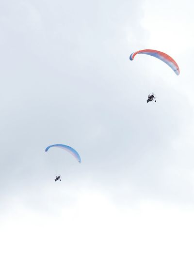 Low angle view of parachute