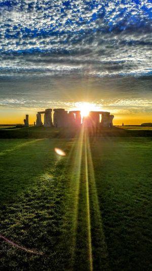 Sunset Sunlight Scenics Cloud - Sky Architecture Construction Travel Destinations England🇬🇧 Stonehenge Monoliths Prehistoric Landmarks Travel Photography