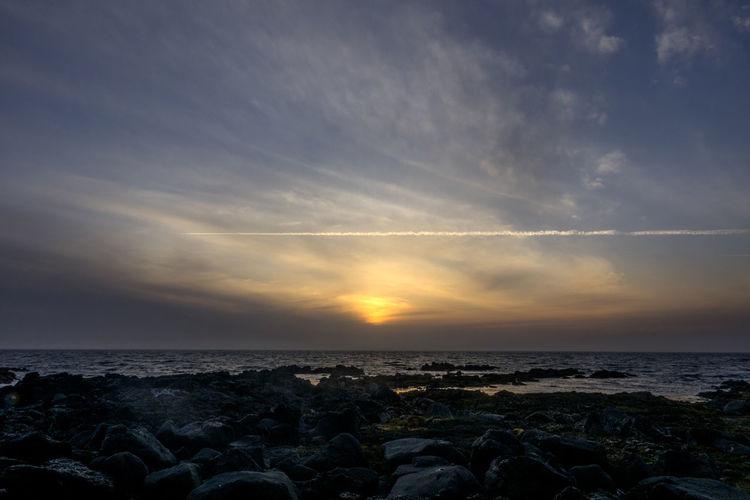 sunset of Gwangot in Jeju Island, South Korea Gwangot JEJU ISLAND  Beach Beauty In Nature Cloud - Sky Day Horizon Over Water Idyllic Nature No People Outdoors Pebble Beach Rock - Object Scenics Sea Sky Sun Sunset Tranquil Scene Tranquility Water