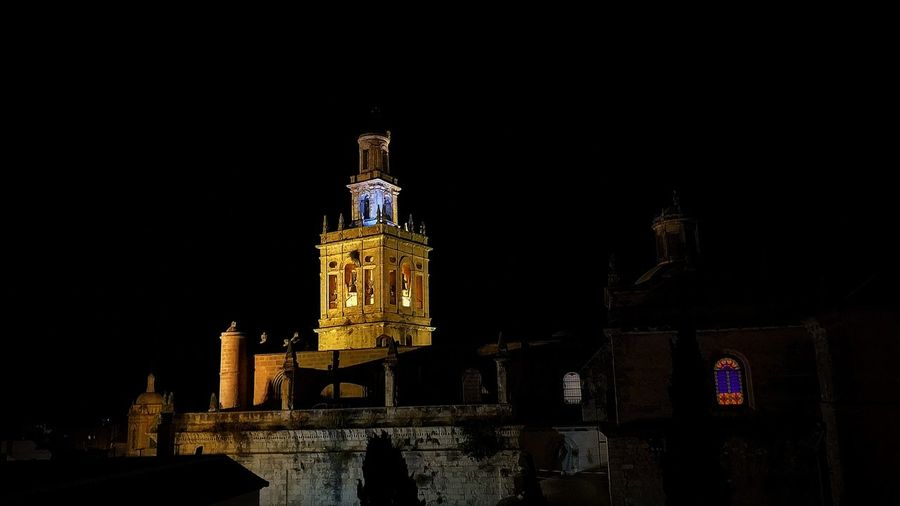Morón Sevilla Andalucía SPAIN Church San Miguel Night Light Morón De La Frontera City Cityscape Illuminated Clock Politics And Government History Religion Business Finance And Industry Architecture Sky EyeEmNewHere