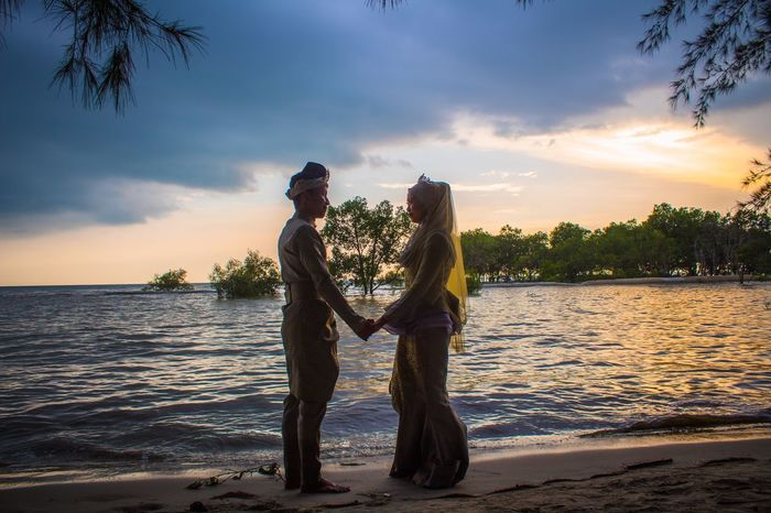 MALAY WEDDING - OUTDOOR SESSION Beach Malaywedding Togetherness Two People Water Sky Sunset Women Love EyeEmNewHere