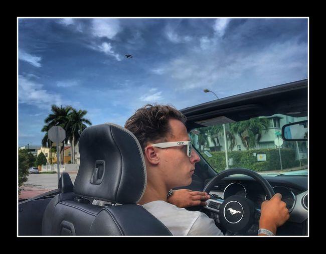 Miami by Car Car Sunglasses Cloud - Sky USA Miami Beach Miami États-Unis Voiture First Eyeem Photo