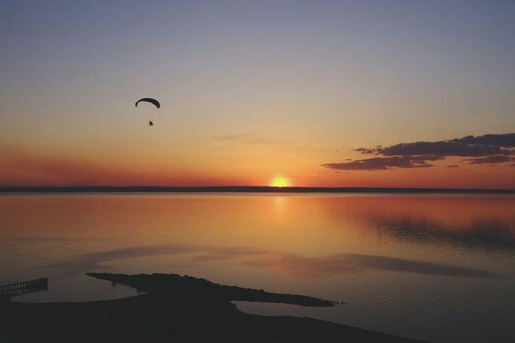 Sunset on Volga