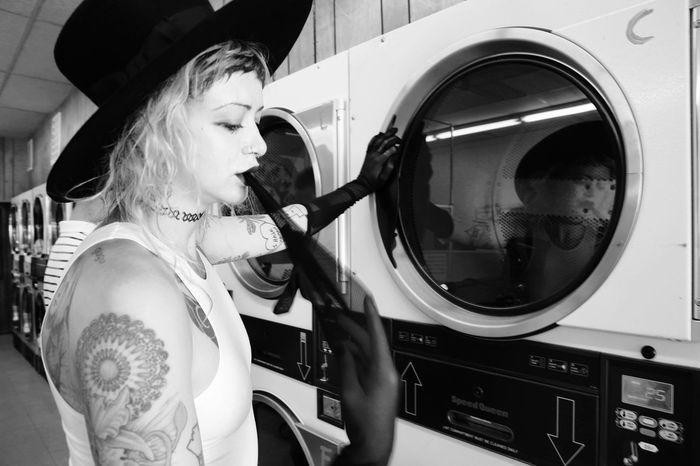 Fashion Laundry Portrait San Francisco Blackandwhite