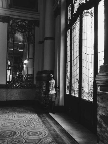 The black again ❤ The Secret Spaces Architecture Sao Paulo - Brazil Arch Window Theatro Municipal De São Paulo Silence Black&white Brazil Indoors  One Person Day Women