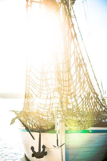 Gazebo in sea against sky