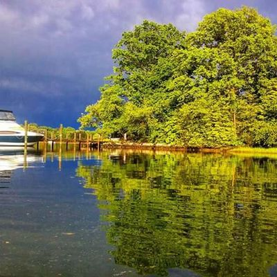 After The Storm Dark Clouds Storm Clouds On The Water Water Reflections Beautiful Colors Beautiful Kayaking In Nature No People My Backyard Oasis California MD USA Boat