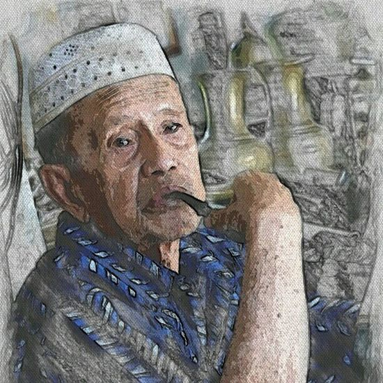 """""""Old age, especially an honoured old age, has so great authority, that this is of more value than all the pleasures of youth."""" - Cicero Brunei InstaBruDroid Andrography Paperartist"""