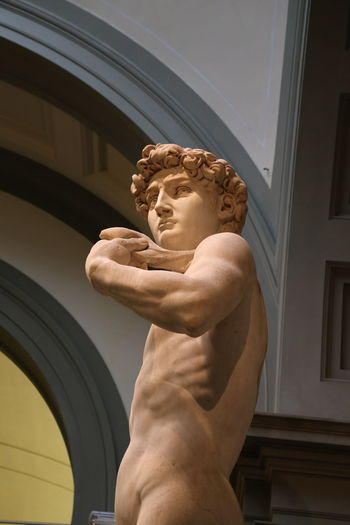 David Florence Italy Accademia Architecture Building Exterior Built Structure Day Lifestyles Low Angle View Men Michelangelo's David Muscular Build One Person Outdoors Sculpture Shirtless Statue Strength