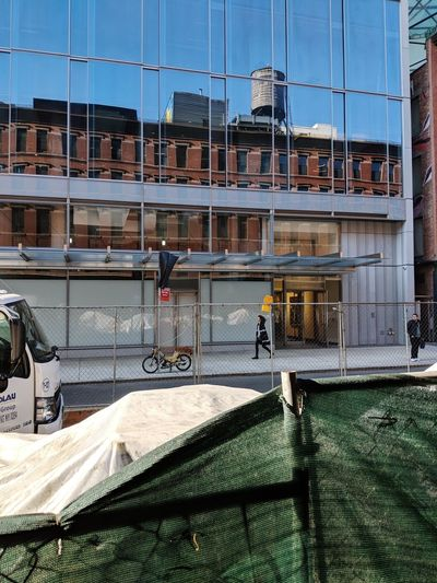 Washington St, Meatpacking. February 2018 Streetphoto_color Streetphotography Meatpacking District New York City Construction Reflection Built Structure Building Exterior Outdoors Day Nature