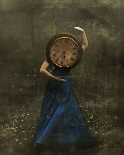 """Chronophobia"" Conceptual Photography  Conceptual Conceptual Art Expressive Clocks Time Art Fine Art Photography Fine Art Inception Longdress Dreams Imagination Creativity"