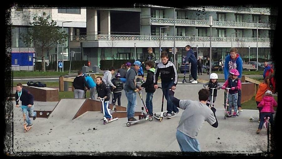 Skate Life Scooter Revenge Scooters Kids Still rocking n dodging the kids! :-)