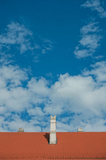 Travel Travel Photography Architecture Blue Building Building Exterior Built Structure Cloud - Sky Day Direction High Section House Low Angle View Nature No People Outdoors Residential District Roof Roof Tile Sky Sunlight Tower