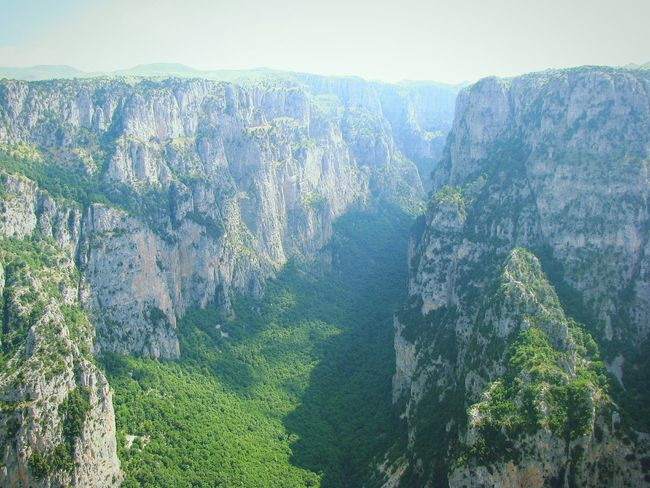Landscapes With WhiteWall Gorge Vikos Gorge No People Ipiros Greece Steep Steep Cliff Cliff Cliffs Landscape Landscape_Collection Mountain Mountains Mountain View Tranquil Scene Climbing Nature Greenery Nature_collection Beauty In Nature The KIOMI Collection View From The Top Viewpoint Wallpaper Go Higher