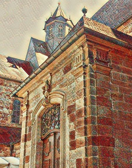 Fritzlar - Germany Summer 2017 Old Town Architecture Brick Wall Building Exterior Built Structure Foto Effects Fritzlar History No People Outdoors Place Of Worship Religion Summer 2017 Travel Destinations