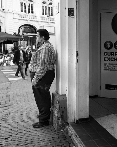 Mobilephotography Streetphotography Streetphoto_bw People Watching Blackandwhite Smoker Urban Life